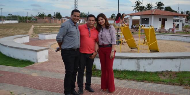 Prefeita Rosiana Beltrão, Vice-prefeito Jorge Nunes e Secretários, fazem visita técnica ao povoado Pontes.