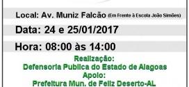 """Programa""""Expresso da Cidadania"""" visita o município de Feliz Deserto na próxima semana"""