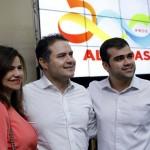 Prefeita Rosiana Beltrão e o Secretário de Educação do Município Djalma Barros, participaram do lançamento Programa Alagoas Mobiliza Educação