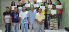 Prefeitura de Feliz Deserto entrega certificados a participantes de curso ofertado pelo SENAR