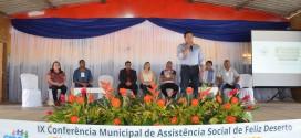 FELIZ DESERTO REALIZA A IX CONFERÊNCIA MUNICIPAL DE ASSISTÊNCIA SOCIAL