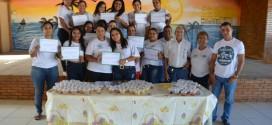 Entrega dos Certificados do curso de Industrialização de Doces