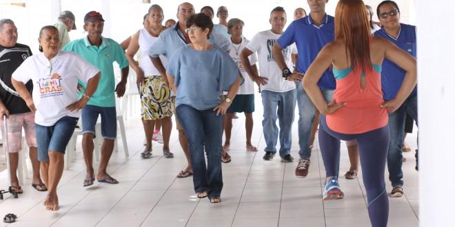 Secretaria de Saúde promoveu nesta manhã(12) palestras para diabeticos e hipertensos.