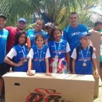 Alunos das escolas municipais de Feliz Deserto participam da Maratoninha Caixa em Maceió.