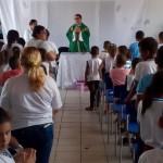 Escola João Manoel Muniz Simões acolheu alunos e funcionários da escola para Missa de benção.