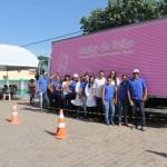 Caminhão 'Amigo do Peito' realiza mamografias em Feliz Deserto.