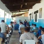 Início das aulas da EJA na Comunidade Católica no Povoado Flexeiras.